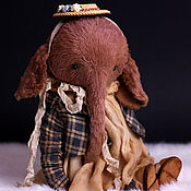 Куклы и игрушки handmade. Livemaster - original item Teddy elephant Damen und Herren. Handmade.