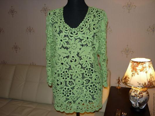 """Блузки ручной работы. Ярмарка Мастеров - ручная работа. Купить вязаная блузка  """"Ноктюрн 2"""". Handmade. Ирландское кружево"""
