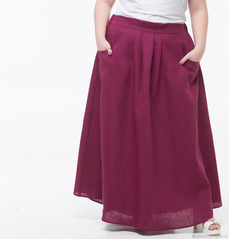 100% linen boho skirt, Skirts, Tomsk,  Фото №1