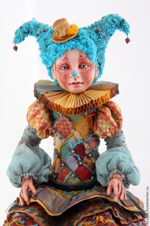 Коллекционные куклы ручной работы. Ярмарка Мастеров - ручная работа. Купить Коломбина и Коломбо. Handmade. Авторская кукла, кукла, масло