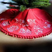 Подарки к праздникам handmade. Livemaster - original item Skirt under the Christmas tree