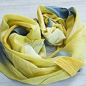 Аксессуары handmade. Livemaster - original item Yellow stole-the-line in a large pea. Handmade.