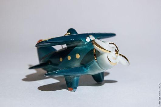 Новый год 2017 ручной работы. Ярмарка Мастеров - ручная работа. Купить Елочная игрушка Ретро Самолетик. Handmade. Елочные игрушки