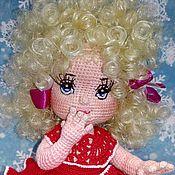 Куклы и пупсы ручной работы. Ярмарка Мастеров - ручная работа Кукла Снегурочка.Кукла вязанная.Кукла каркасная.Кукла крючком.Doll. Handmade.