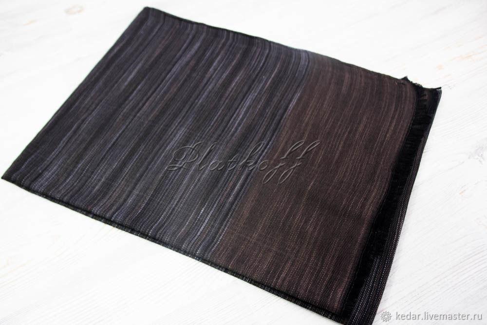 Striped scarf unisex 'Klimento' dark chocolate, Scarves, Moscow,  Фото №1