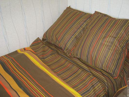 """Текстиль, ковры ручной работы. Ярмарка Мастеров - ручная работа. Купить Постельное бельё """"Шоколад"""". Handmade. Рыжий"""