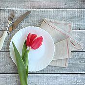 Для дома и интерьера ручной работы. Ярмарка Мастеров - ручная работа Комплект салфеток столовых Красная строчка. Handmade.