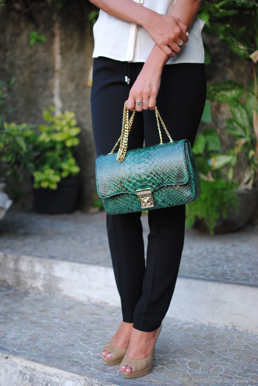Emerald Python skin bag, Classic Bag, Moscow,  Фото №1