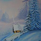 """Картины и панно handmade. Livemaster - original item """"Winter"""" oil Painting. Handmade."""