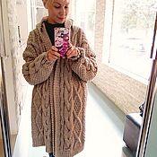 Одежда handmade. Livemaster - original item Coat knit in color beige. Handmade.