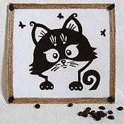 Картины из молотым кофе своими руками мастер класс