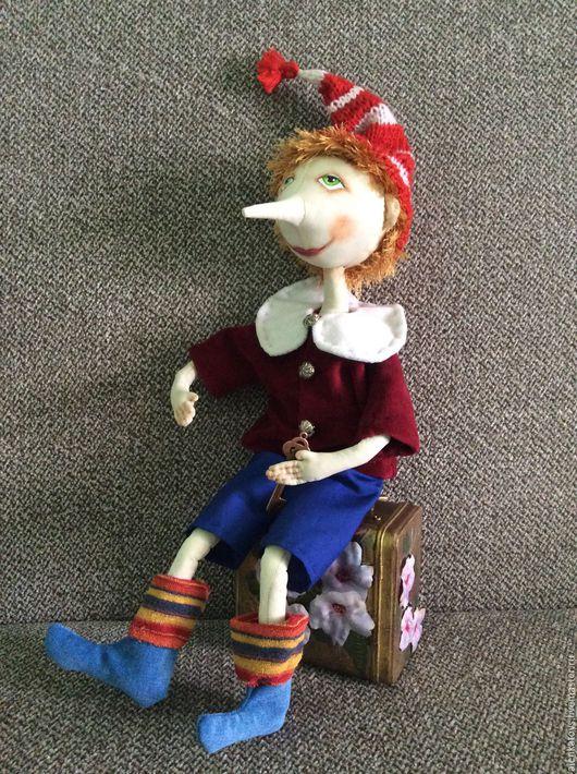 Коллекционные куклы ручной работы. Ярмарка Мастеров - ручная работа. Купить Буратино. Handmade. Буратино, сказочный персонаж, хлопок