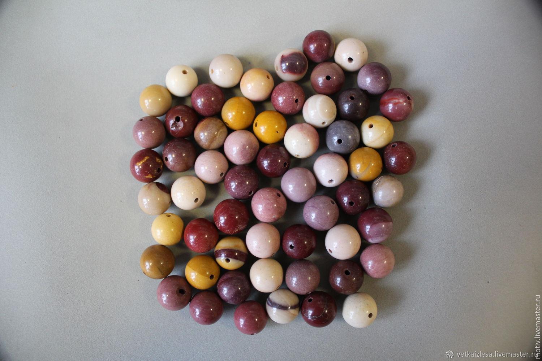 Яшма мукаит, 10 мм, гладкие бусины (натуральный камень)