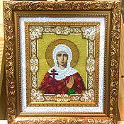 Картины и панно handmade. Livemaster - original item ICON OF ST. MARTYR GALINA. Handmade.