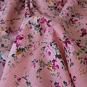 """Материалы для творчества ручной работы. Ярмарка Мастеров - ручная работа Ткань """"Шебби-розы"""" розовые. Handmade."""