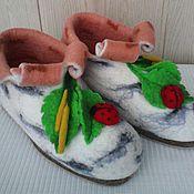 """Обувь ручной работы. Ярмарка Мастеров - ручная работа валеночки домашние """"во поле березка стояла..."""". Handmade."""