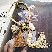 Украшения ручной работы. Ярмарка Мастеров - ручная работа Колье Этно5, колье бусы. Handmade.
