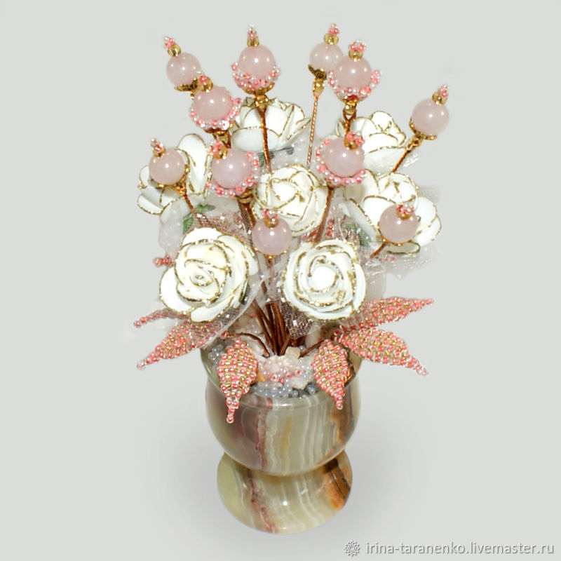 Rose quartz flowers ' Celebration of love`