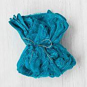 Материалы для творчества handmade. Livemaster - original item Silk handkerchiefs Cobalt 10 g. DHG Italy. Handmade.