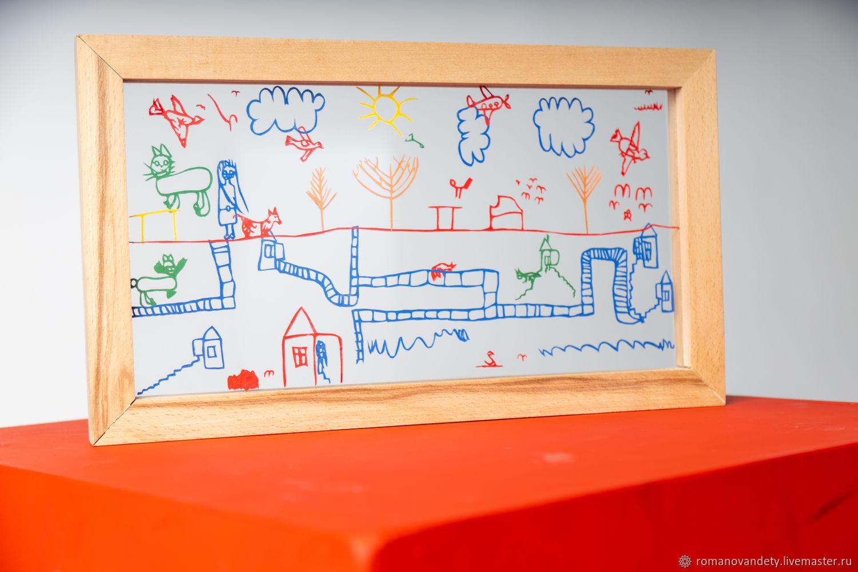 Картина на стекле с детским рисунком, Картины, Москва,  Фото №1