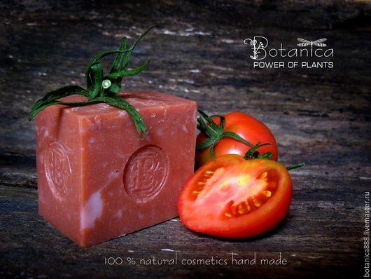"""Мыло ручной работы. Ярмарка Мастеров - ручная работа. Купить Мыло натуральное  """"Перуанское яблоко""""  (томатное, с нуля). Handmade."""