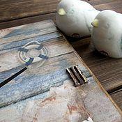 """Для дома и интерьера ручной работы. Ярмарка Мастеров - ручная работа Часы """"...и моря шум"""". Handmade."""