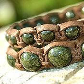 Украшения handmade. Livemaster - original item Set of Bracelets Shambala stone serpentine. Handmade.