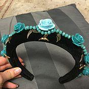 Украшения ручной работы. Ярмарка Мастеров - ручная работа Обруч в стиле dolce цвета Tiffany. Handmade.