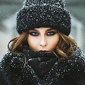 Аксессуары handmade. Livemaster - original item Women`s knitted cap from kid-Mohair