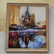 Картины и панно handmade. Livemaster - original item Saint Petersburg acrylic painting Saint Petersburg painting of the Savior on blood painting church. Handmade.