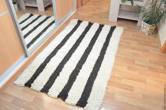 Текстиль, ковры ручной работы. Ярмарка Мастеров - ручная работа. Купить Коврик из овечьей шерсти KB030B. Handmade. комбинированный