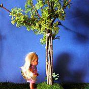 Куклы и игрушки ручной работы. Ярмарка Мастеров - ручная работа Дерево лиственное штамбовое на кочке, для кукольного сада.. Handmade.