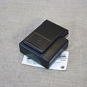 Сувениры и подарки handmade. Livemaster - original item Cigarette case or case for a pack of cigarettes with a lighter. Custom logo.. Handmade.