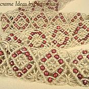 """Аксессуары ручной работы. Ярмарка Мастеров - ручная работа """"Аргайл"""", плетёный пояс, лён, макраме. Handmade."""