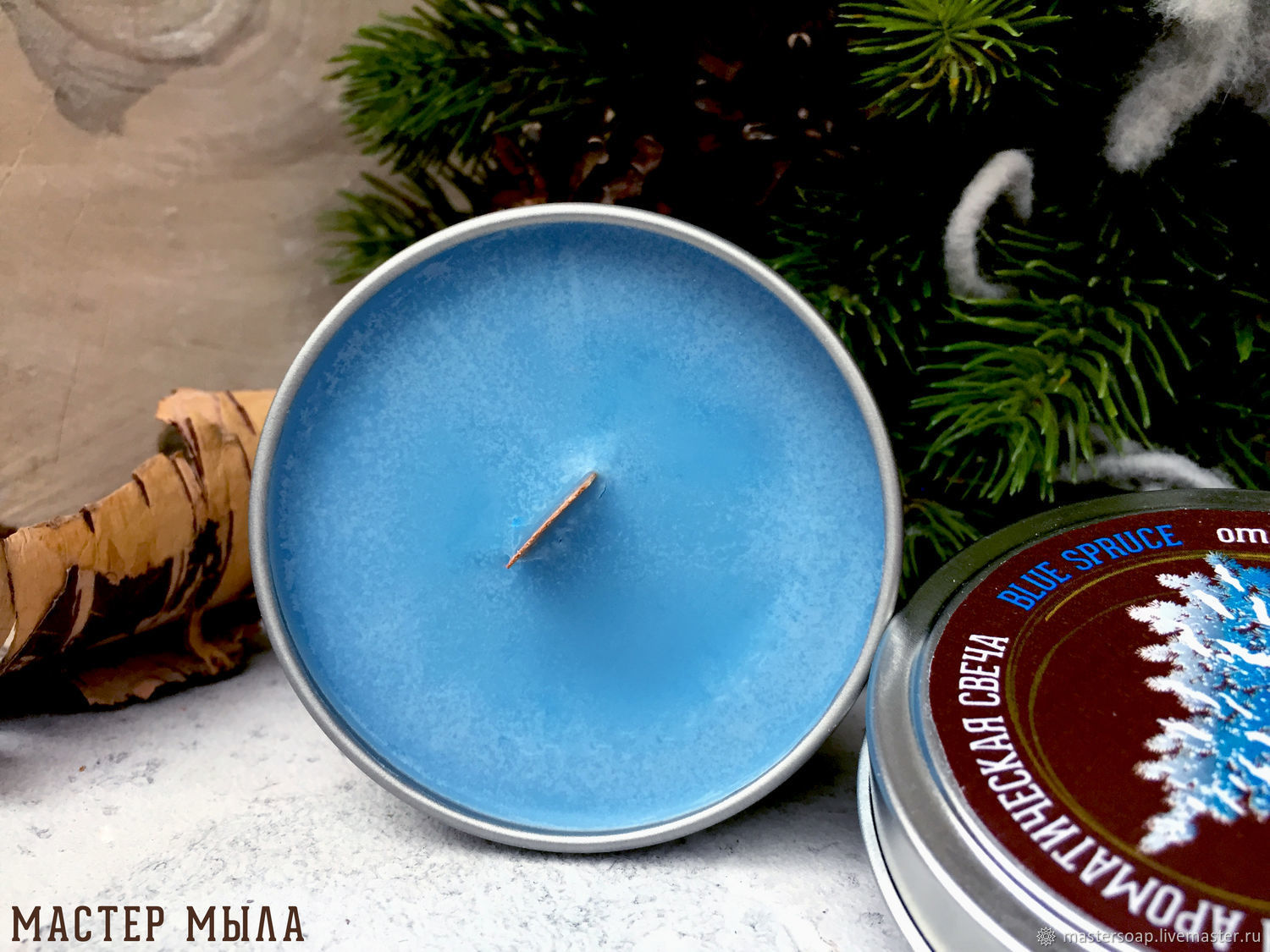 Soy scented candle with a Christmas scent in the range, Candles, Moscow,  Фото №1