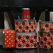 Винтаж handmade. Livemaster - original item A set of tin cans. retro. USSR. Handmade.