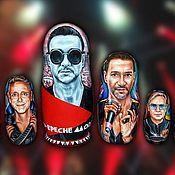 Русский стиль ручной работы. Ярмарка Мастеров - ручная работа Портреты на матрёшках, группа Depeche Mode. Handmade.