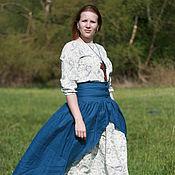Одежда ручной работы. Ярмарка Мастеров - ручная работа юбка верхняя льняная бохо. Handmade.