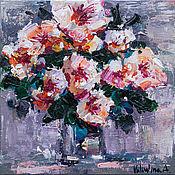 Картины и панно handmade. Livemaster - original item White flowers Original acrylic  painting. Handmade.