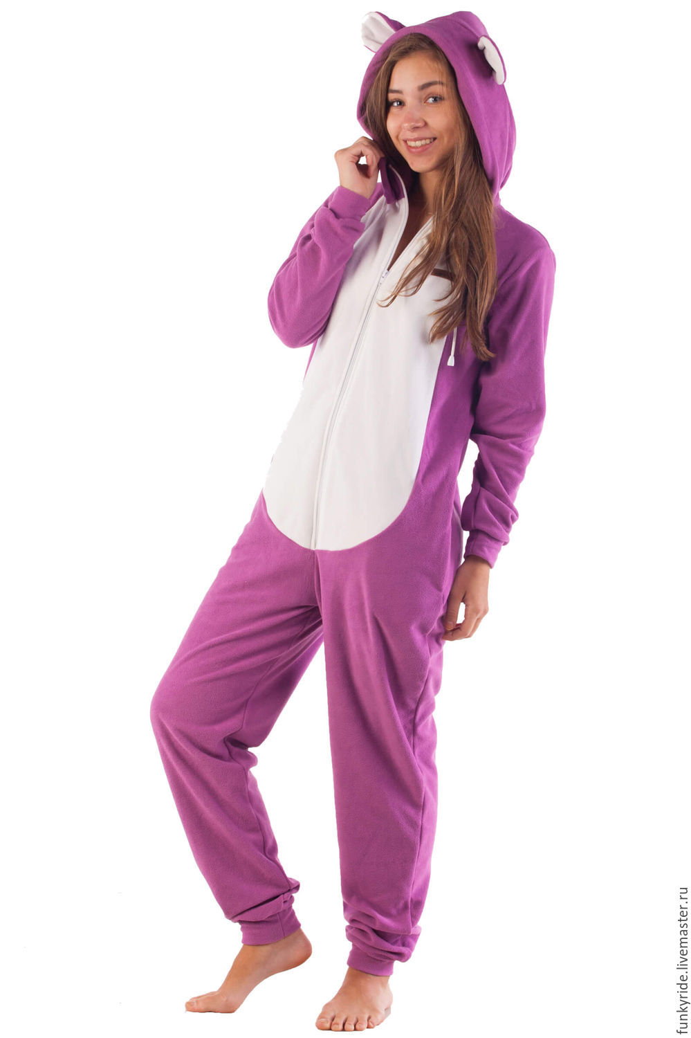 Home jumpsuit Blueberry Bear PURPLE BEAR FUNKY HOME SUIT, Jumpsuits & Rompers, Magnitogorsk,  Фото №1