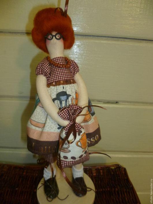 Куклы Тильды ручной работы. Ярмарка Мастеров - ручная работа. Купить Тильда кофейная. Handmade. Натуральные материалы, подарок подруге