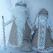 Народная кукла ручной работы. Ярмарка Мастеров - ручная работа Дед Мороз и Снегурочка авторские куклы, народные мотивы. Handmade.