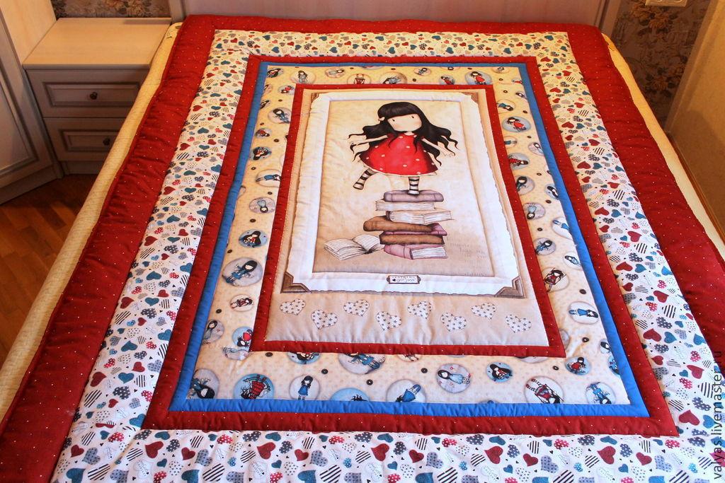 Пледы и одеяла ручной работы. Ярмарка Мастеров - ручная работа. Купить Одеяло для Алисы. Handmade. Разноцветный, одеяло детское, синтепон
