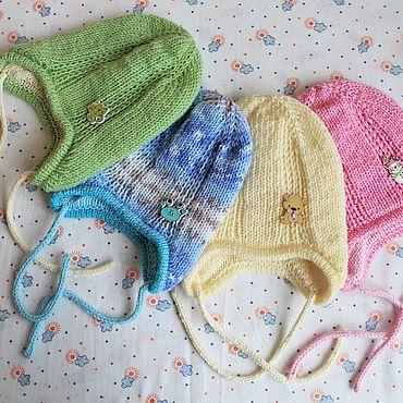 Одежда ручной работы. Ярмарка Мастеров - ручная работа Шапочка детская двойная. Handmade.