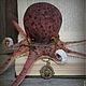 Игрушки животные, ручной работы. Octopus burgundy.... Ирина Сайфийдинова (textileheart). Ярмарка Мастеров. Морская тема, морской, сливовый цвет