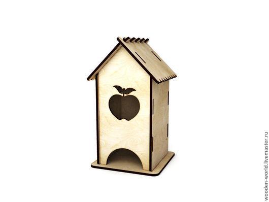 Декупаж и роспись ручной работы. Ярмарка Мастеров - ручная работа. Купить Чайный домик(простой с яблоком). Handmade. Чайный домик