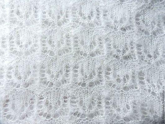 """Шали, палантины ручной работы. Ярмарка Мастеров - ручная работа. Купить Платок-шаль """"Снежный тюльпан"""". Handmade. Белый, платок"""