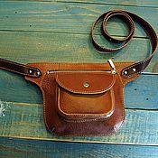 Сумки и аксессуары handmade. Livemaster - original item Waist leather bag