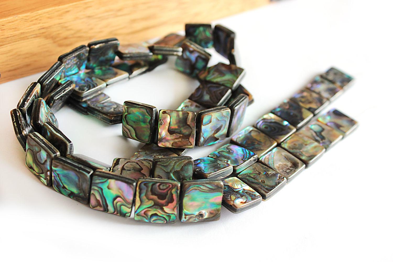 Beads Abalone paua square 14h14mm, Beads1, Bryansk,  Фото №1