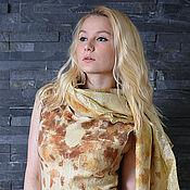 """Одежда ручной работы. Ярмарка Мастеров - ручная работа Платье """"Солнечные зайчики"""". Шелк, шерсть.. Handmade."""